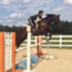 Crissa Keen on her horse, Mercedes.JPG