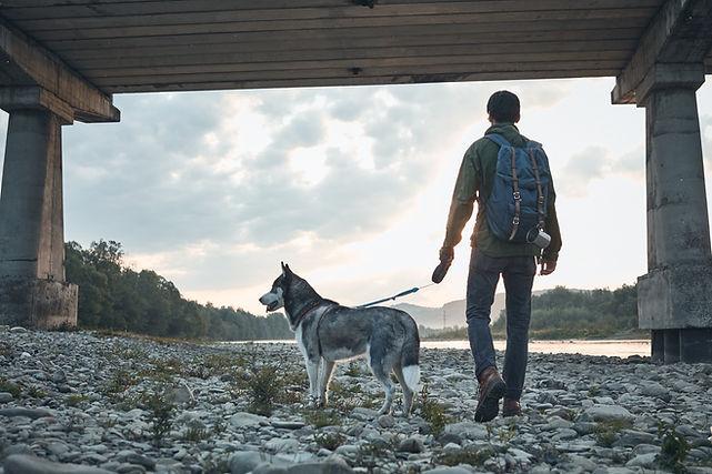 Hombre y su perro