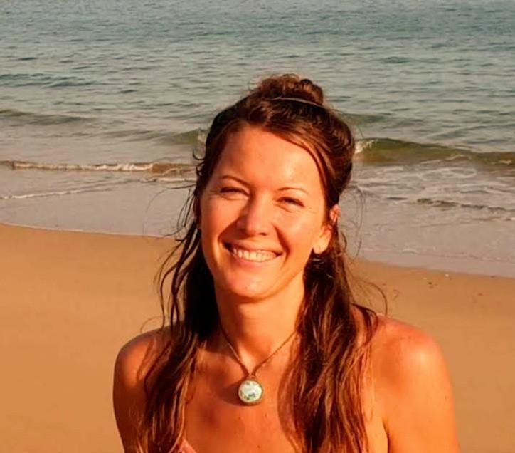 Jasmine Matus on a beach