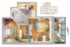 Планировка квартиры с одной спальней и гардеробной
