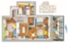 Планировка квартиры с двумя спальнями