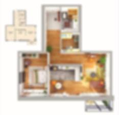 Планировка квартиры в ЖК Аквамарин