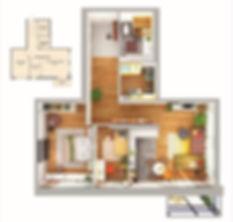 Планирова квартиры с двумя спальнями