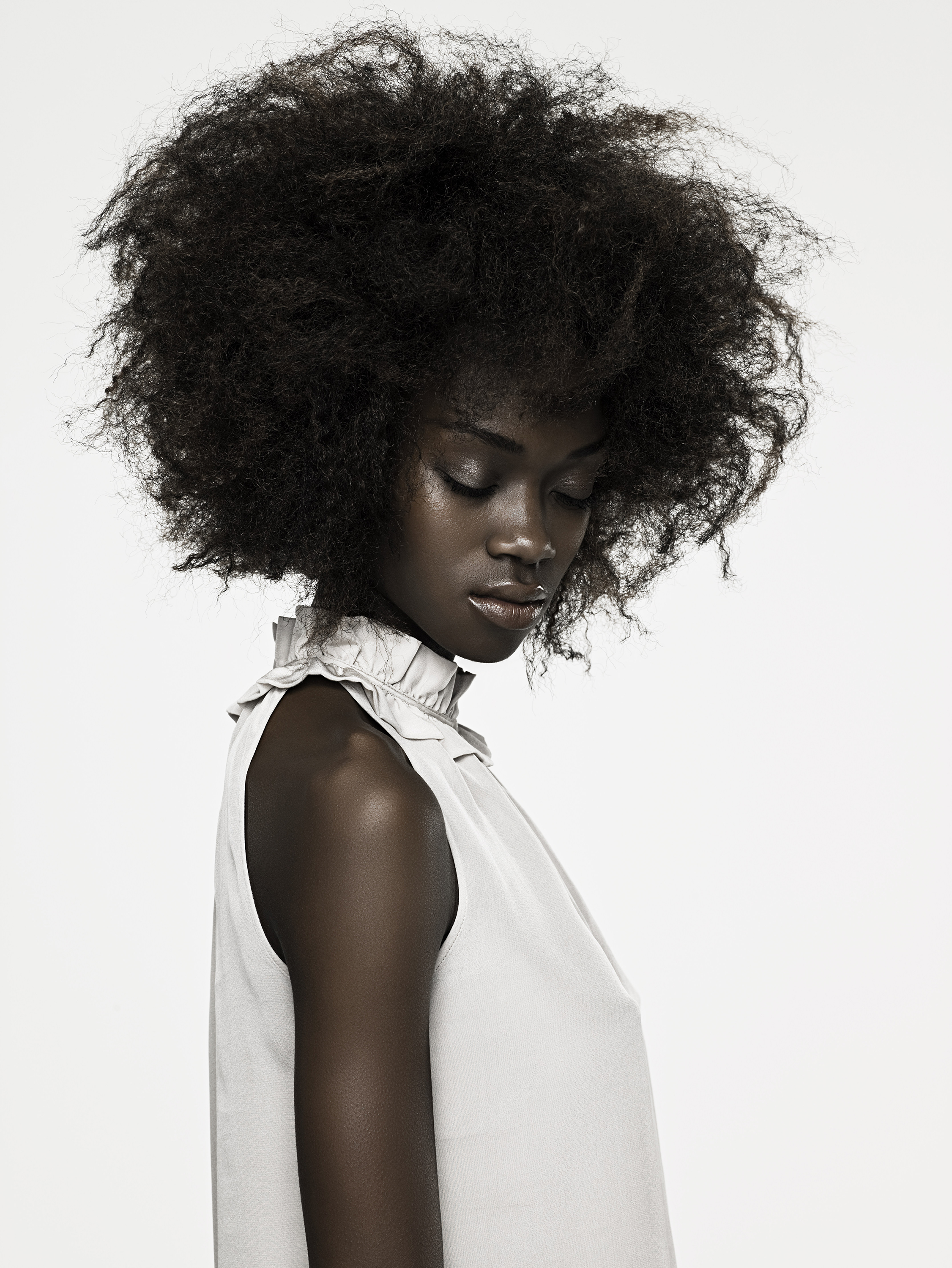 Young Black Woman with Kinky Hair