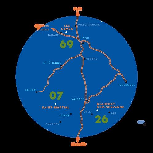 Plan des lieux du festival itinerant