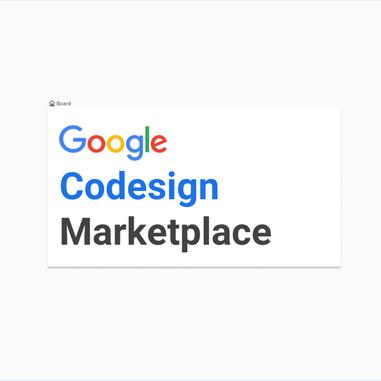 Google Codesign Marketplace