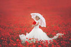 Poppies field children photo Bedford