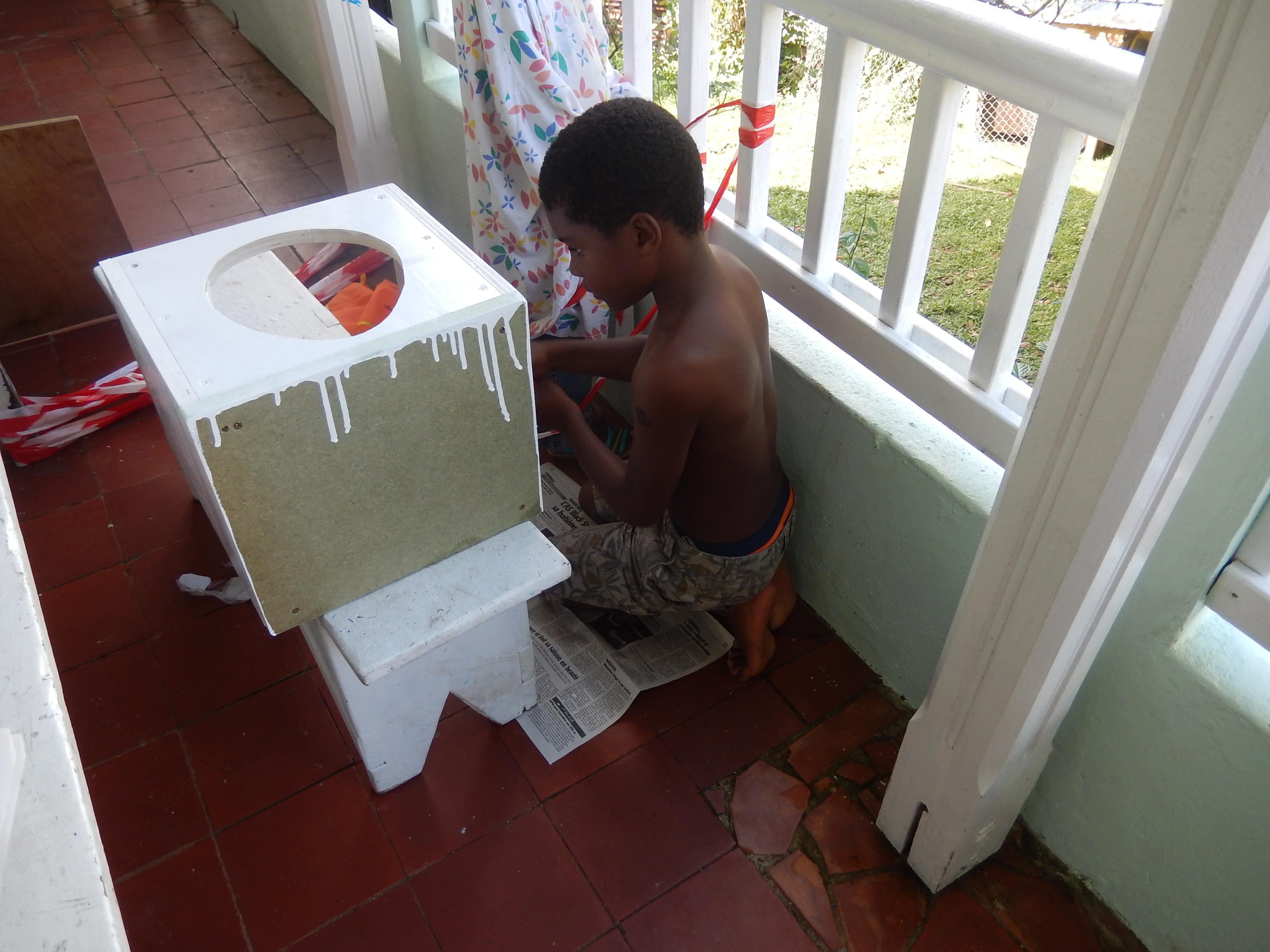 Peinture de nos toilettes sèches