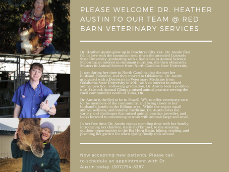 WELCOME DR. HEATHER AUSTIN