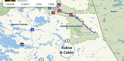 Canoë Oulanka Finlande