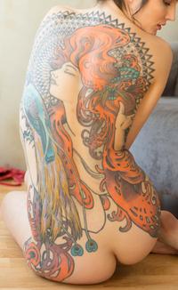 Ninette Shibara tattoo