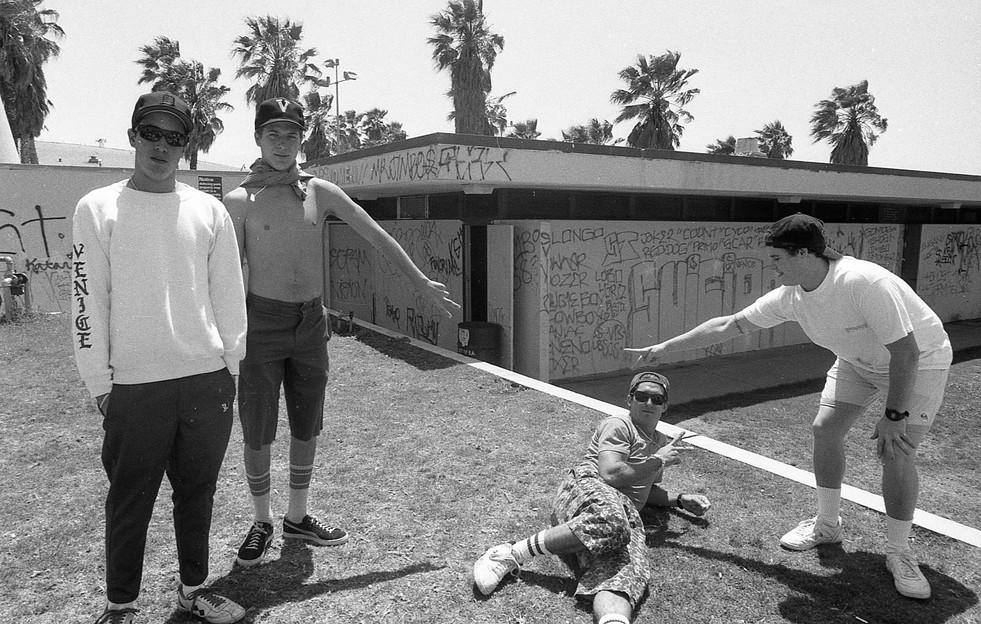 Ghost, Lefty, Jimbo, Slugo (RIP). Venice Suicidal / Venice Punx. Venice, CA. 1980'z