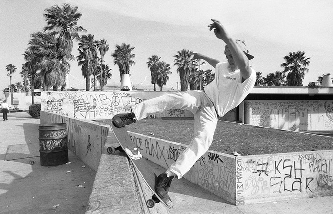 Jayme Burtis, aka Crazy J, aka Vision, aka Vision One. VBWL / WCA. This is a good representation how much graffiti there was and how it added so much more depth to the area and era. Venice, CA. 1980'z