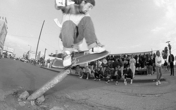 Chris Cook aka Cooksie. The C in Team THC. Pole Jam. Venice, CA. 1980'z