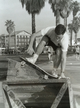 """Dennis Polar Bear"""" Agnew (RIP). Venice Legend. Surfer / Skater. This man had our backs hard when we were younger, he looked out for us. Venice, CA. 1980'z"""