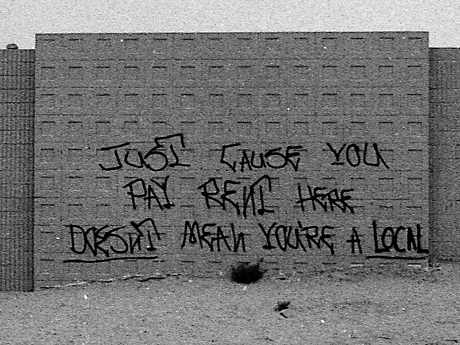"""The writting was truly on the wall. More relevant now than it was back then. Graffiti Art by Brian Zarate Dahlheimer (RIP). Words by Josh """"Bagel"""" Klassman. It's a long story. Venice Break Water wall, 1989"""