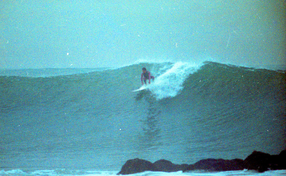 """Jaimie """"Finch"""" Perez. Southside of the Venice Break water, December 2nd 1985. I was 15 years old when I took this. Venice, CA"""