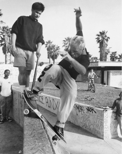 Jay Adams (RIP). One of the coolest people I ever knew and one of the coolest friends I ever had. All style all the time. Venice, CA. 1988