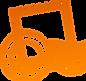 オレンジ色のスタンプ