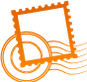 Stamp orange