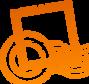 Оранжевый Stamp