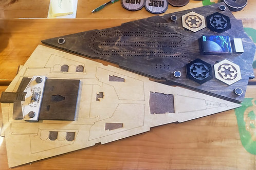 Star Destroyer Cribbage Board