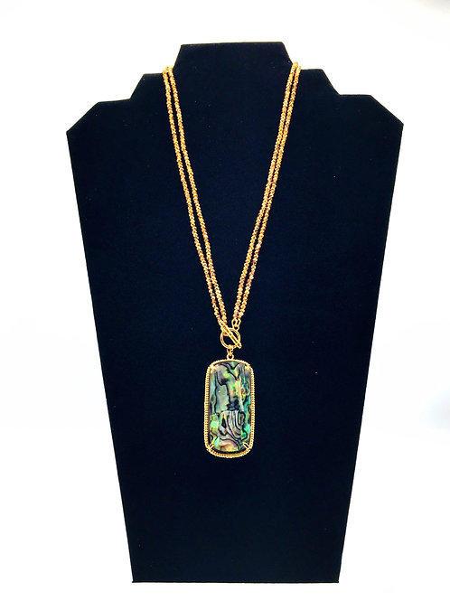 In The Mood Necklace Abalone Stone