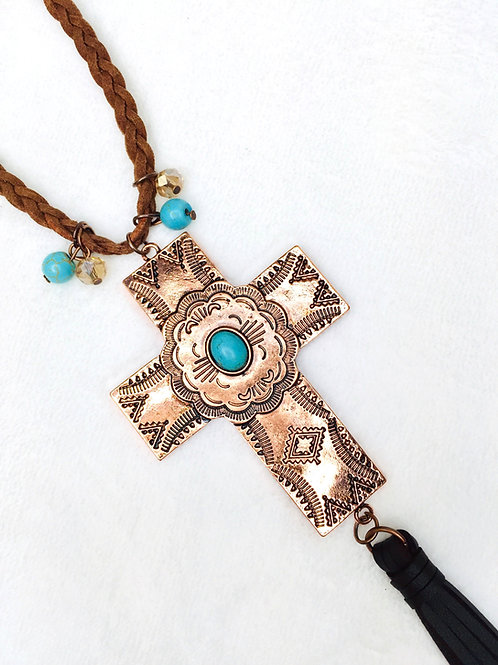 Copper Cross Necklace