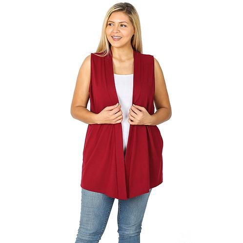 Burgundy Swing Vest