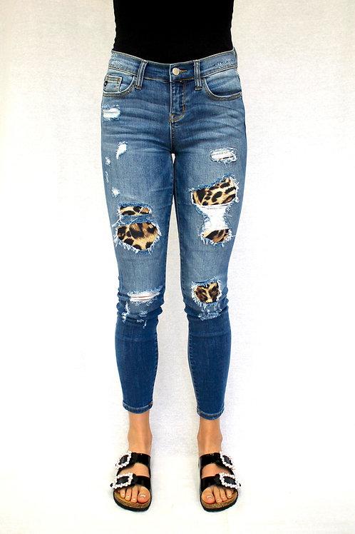 Judy Blue Leopard Patch PLUS