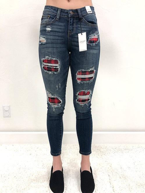 Judy Blue Buffalo Plaid Jeans