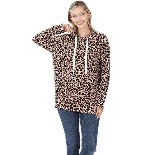 Dream Hoody Tan Leopard
