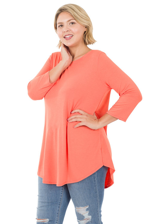 Coral Everyday Knit Top