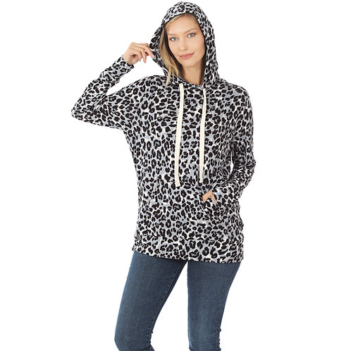 Dream Hoody Grey Leopard