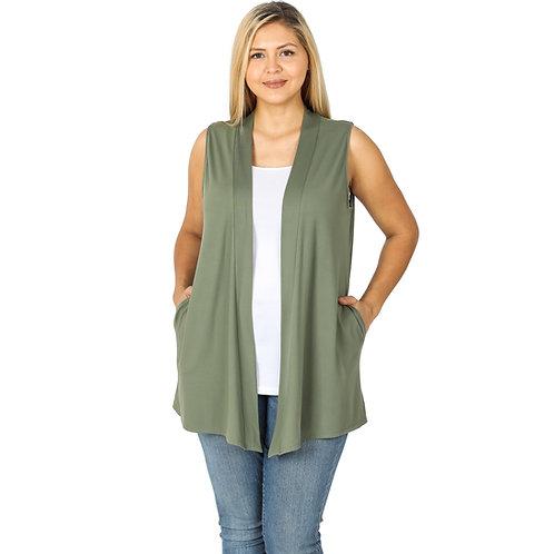 Olive Swing Vest