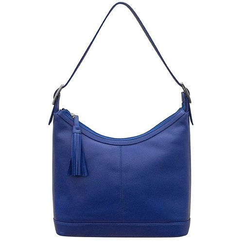 Leather Hobo Bag With Tassel