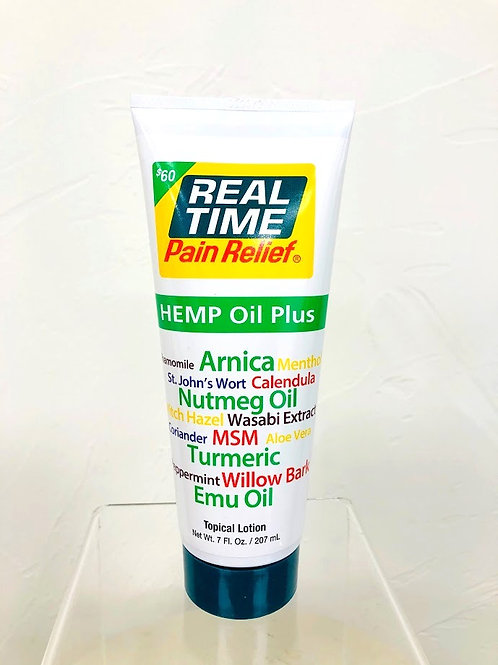 7 0z. Real Time Pain Relief Hemp Oil Plus