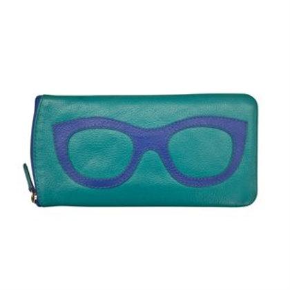 2-Tone Leather Sunglass Case