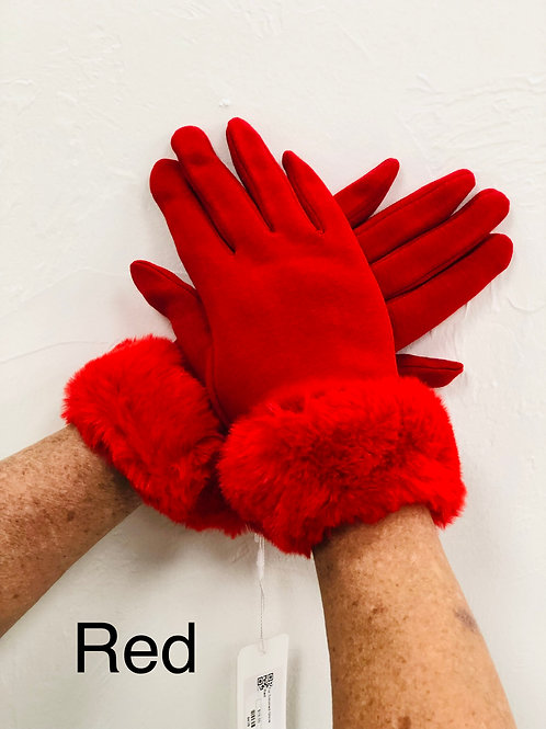 Fur Trimmed Gloves