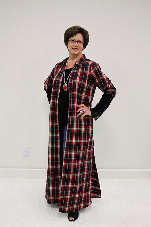 Red Flannel Duster