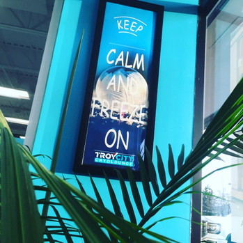 keep calm and freeze on cryotherapy at Troy City Cryolounge