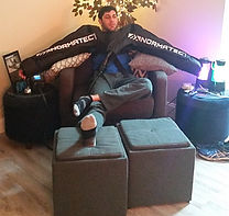 Normatec compression arms at troy city cryolounge