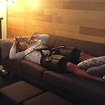 Normatec compression hips at troy city cryolounge