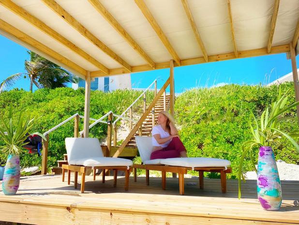 Beach side lounge area