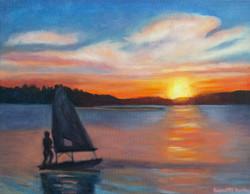 Sunset on the Reservoir