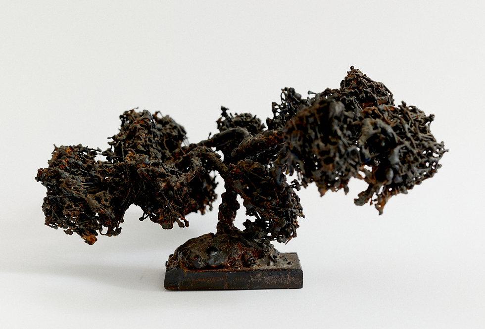 Japanese iron bonsai tree sculpture