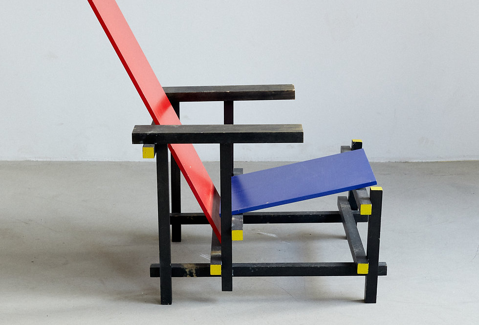 Gerrit Rietveld Red & Blue chair replica