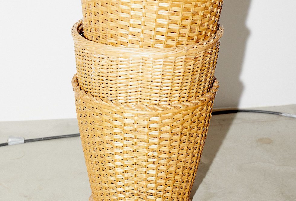 Baskets in rattan 1950/60s
