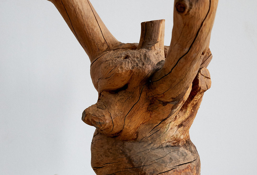 Carved wooden sculpture