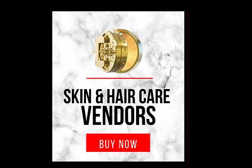 Skin & Hair Care Vendor List